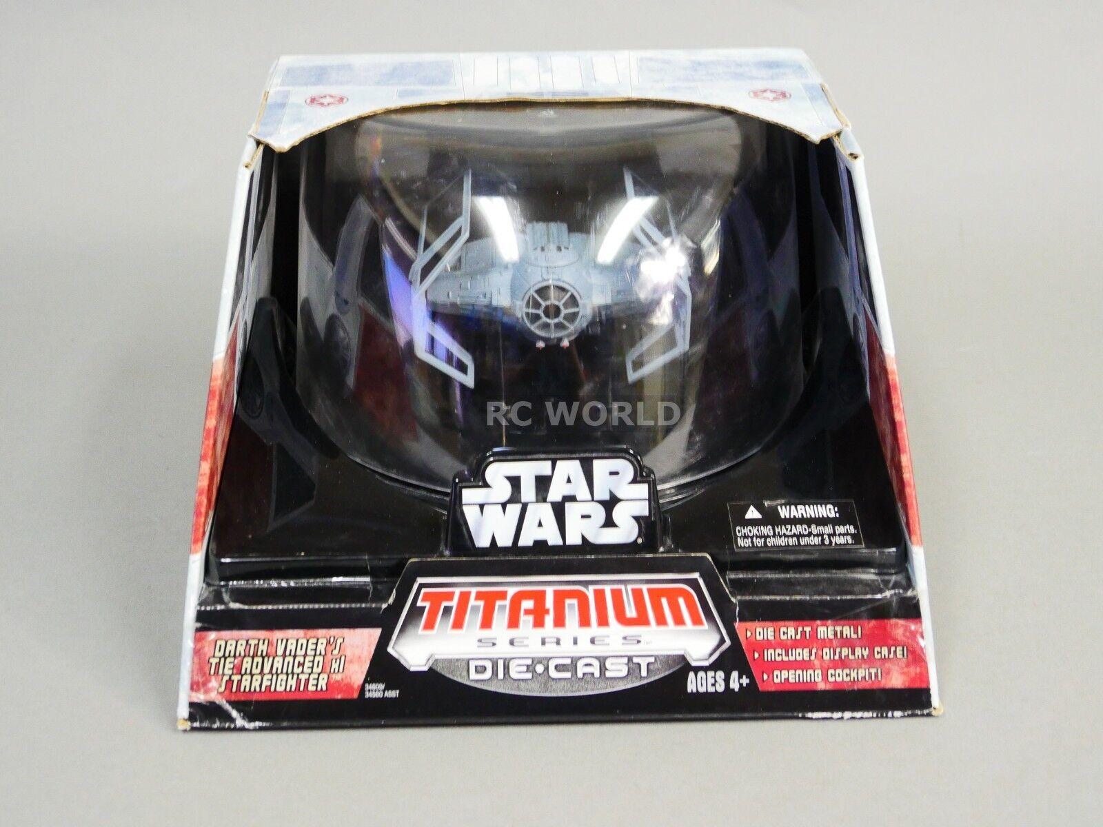 Star Wars Titanium Series DARTH VADER TIE ADVANCED FIGHTER Die-Cast Model  ob1
