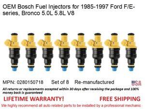 Bosch 0280150718 Fuel Injectors Rebuild Kit for 1985-1997 Ford 5.8L 5.0L V8