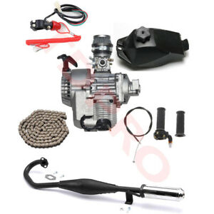 47cc-49cc-2-stroke-Engine-Motor-Kit-Exhaust-Mini-Pocket-Dirt-Bike-ATV-Scooter