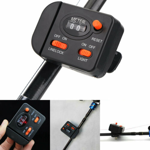 Professional Clip-on Rod Fishing Line Counter Depth Finder Digital Diaplay 99m