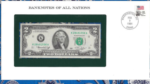 Banknotes of All Nations United States 1976 $2 UNC K-A Dallas