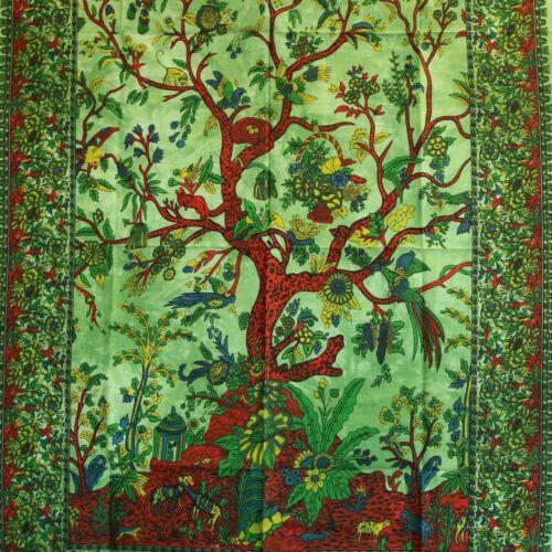 80 x 110 cm vert Tenture Murale Thuya la fresque arbre de vie tree of life