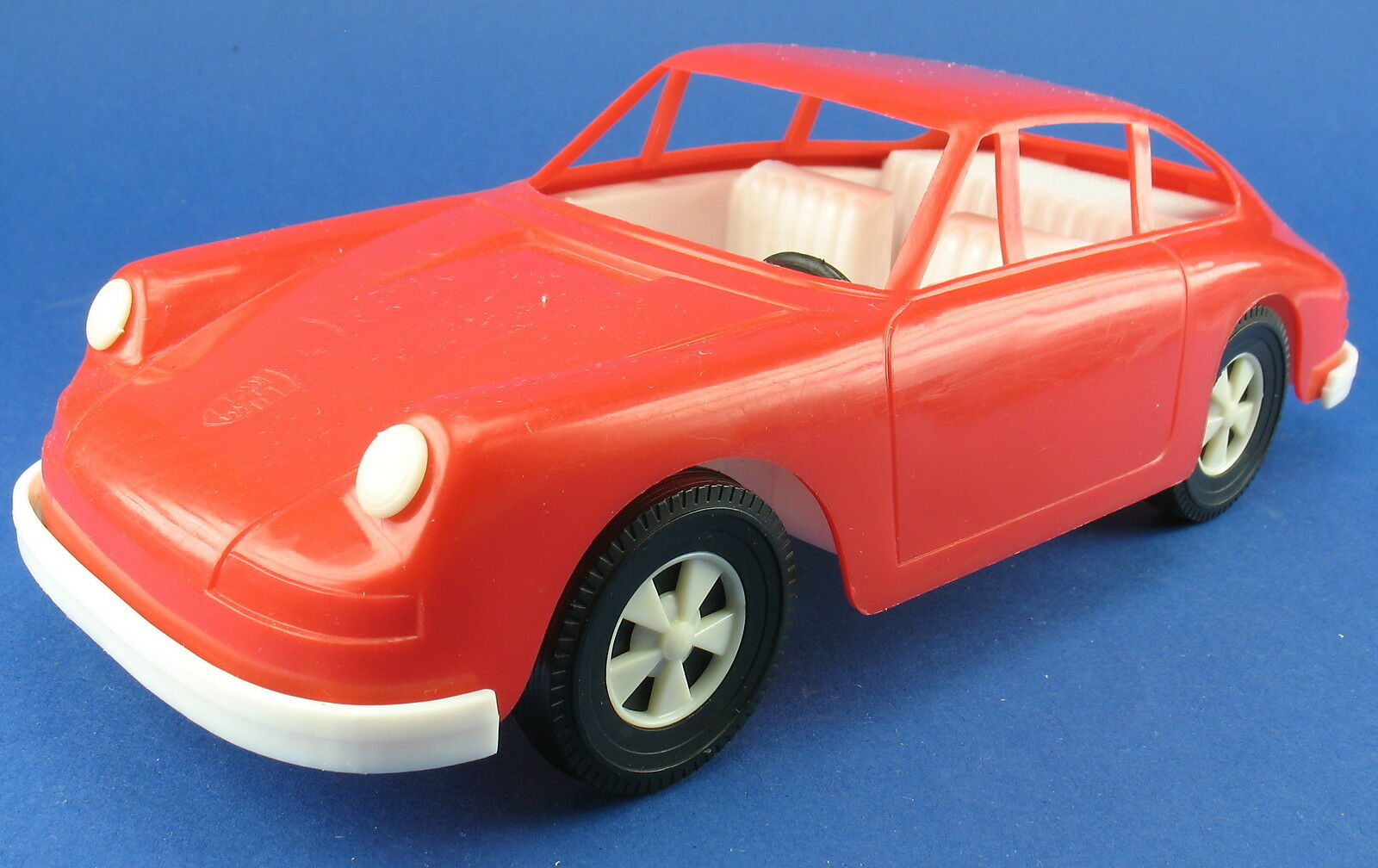 Porsche 911 - Kunstoff-Modell - rot - ca. 20,5 cm - Made in W. GERMANY - Plastik