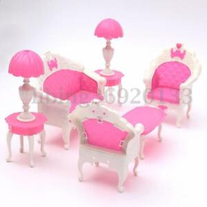 Image Is Loading 6PCS Dollhouse Furniture Living Room Parlour Sofa Chair