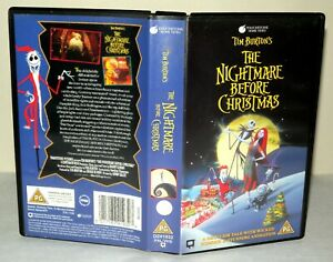 The-Nightmare-Before-Christmas-Children-039-s-VHS-Tape-amp-Case-VHS-Collectable
