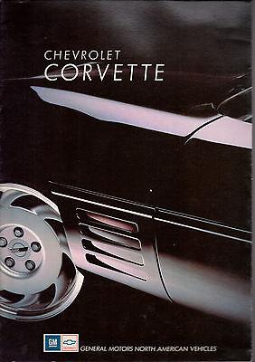 Catalogue Brochure Chevrolet Corvette 1991 Allemand Et Francais