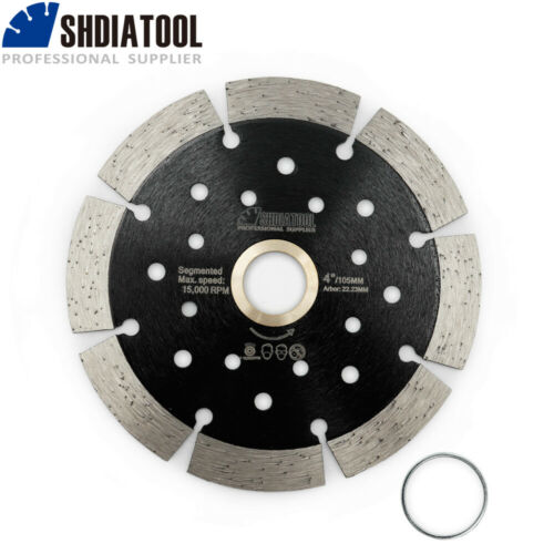 SHDIATOOL 1pc Diamond Segmented Saw Blade with Multi Hole Dry Cutting Disc wheel