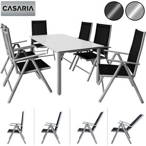 CASARIA® Salon de jardin aluminium »Bern« 1 table 6 chaises ...