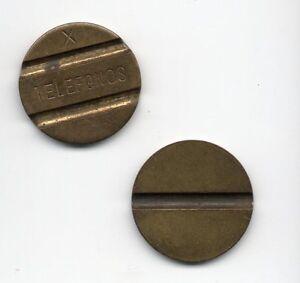 Spain-Old-phone-token-letter-X