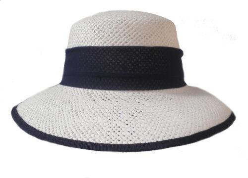 Damen Strohhut Schute maritim Sommerhut Strohhüte Damenhüte Urlaub Garten Sonne
