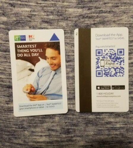 Holiday Inn Express Hotel Room Key Card,IHG Rewards Club up swipe contains 1