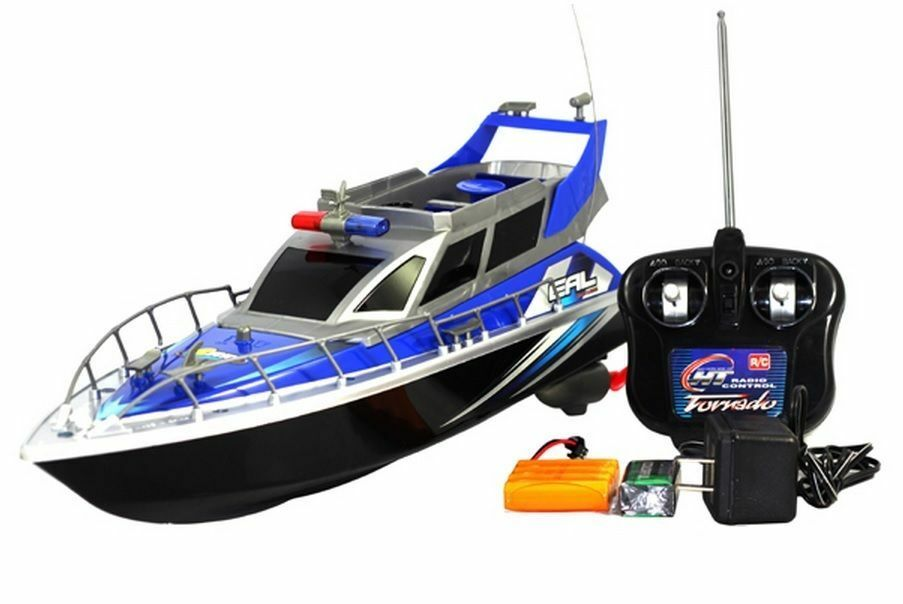 1 20 Police Patrol Cruiser RC Boat Electric Remote Control 4CH RTR blueE