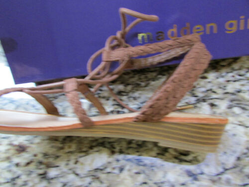 NEW MADDEN GIRL TORREN STRAPPY LACE UP WEDGE SANDALS WOMENS 9.5 FREE SHIP