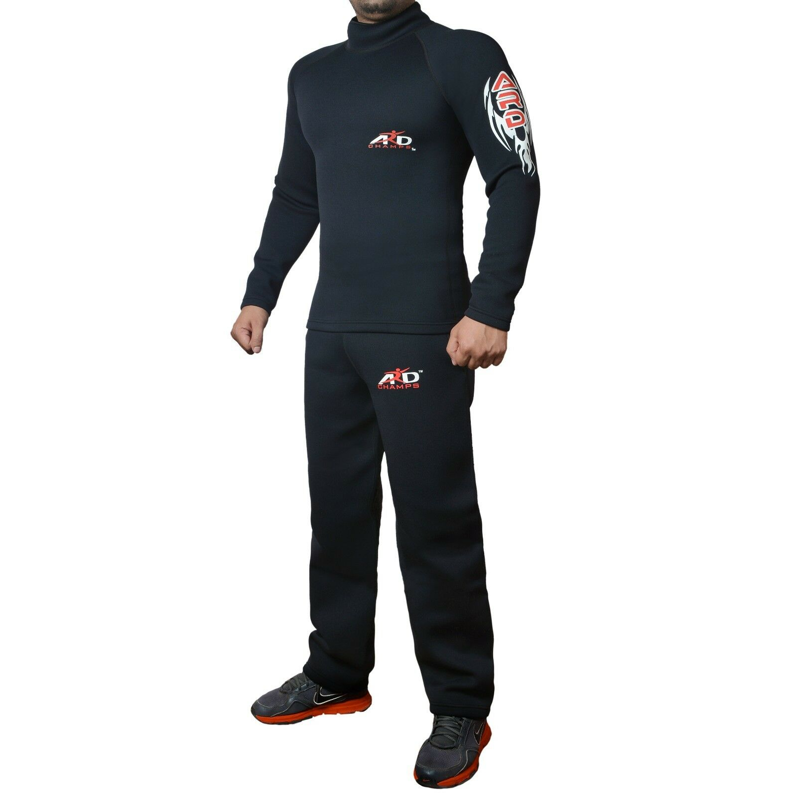 ARD CHAMPS™ Heavy Duty Neoprene Sweat Suit Sauna Exercise Gym Suit Fitness