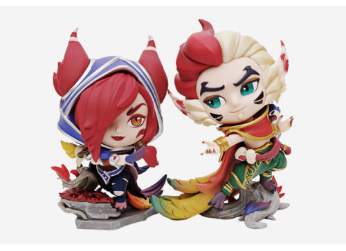 League of Legends Rakan Xayah Limited Official Statue LOL New Game Action Figure