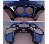Gloss Black Inner & Outer Front Fairing Abs For Harley Road Glide 1998-2013