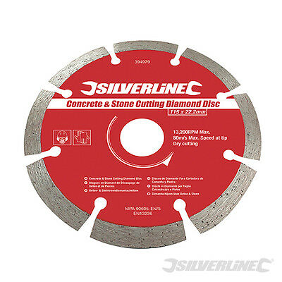 Silverline 115mm Diamond Blade ## for Concrete and Stone ##