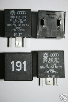 No 191 VW VOLKSWAGEN Ind Vuelta Flasher Relé 1H0 953 227