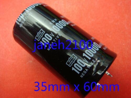 B88 5pc NIPPON 100 V 10000UF condensateur électrolytique 35mmX60mm NEUF