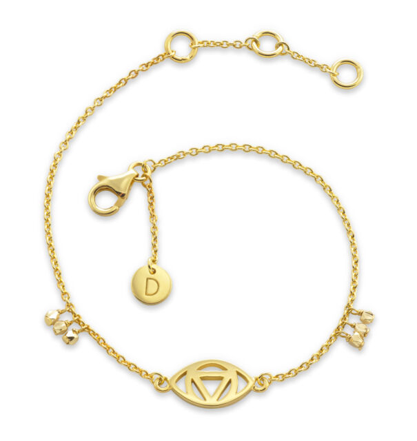 Daisy London NEW! 18ct Gold Plated Evil Eye Good Karma Bracelet