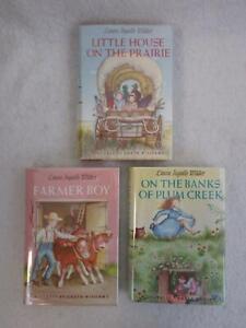 Lot of 3 Laura Ingalls Wilder LITTLE HOUSE ON THE PRAIRIE Novels HCs/DJs