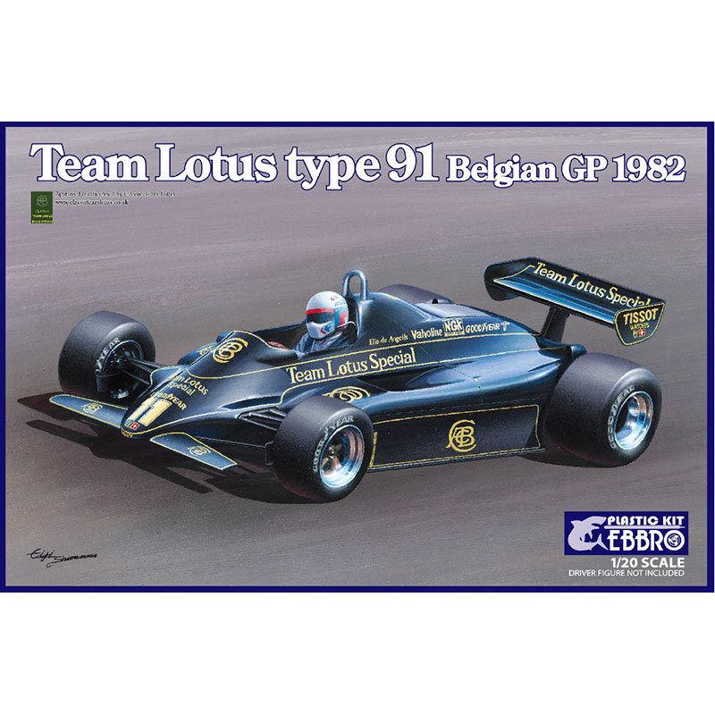 EBBRO 20019 Team Lotus 91 Belgium GP 1982 E019 1 20 Car Model Kit
