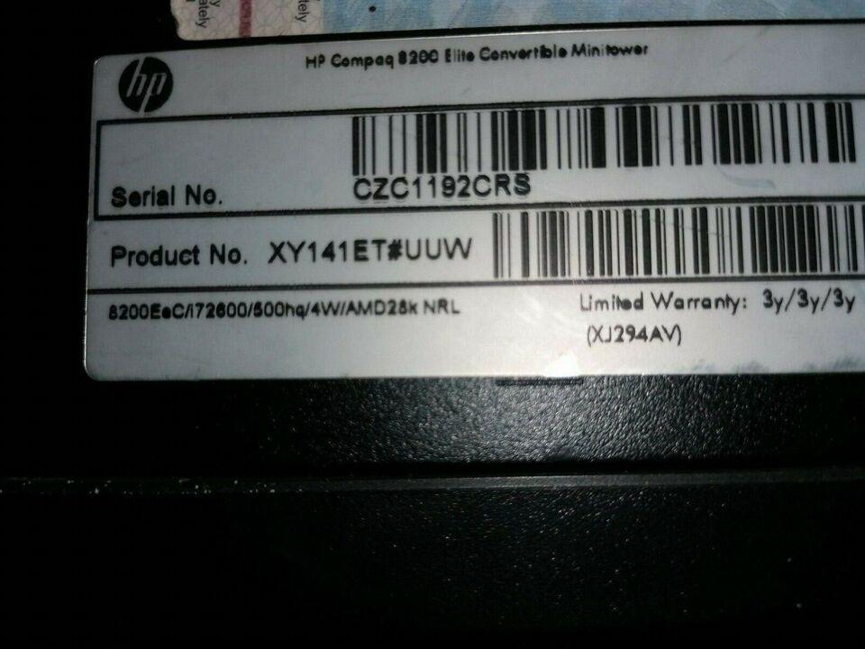 HP, HP Compaq 8200 Elite, 3.4 Ghz