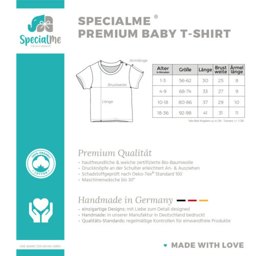 Baby T-Shirt mit Namen personalisiert Aufschrift little Panda Junge Mädchen