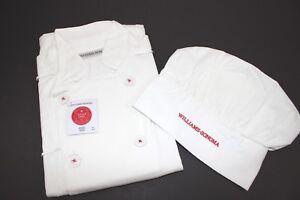 005d0e3d8f1 Details about NWT WILLIAMS SONOMA Size M L Age 10 12 Kids White Junior Chef  Jacket   Hat Set