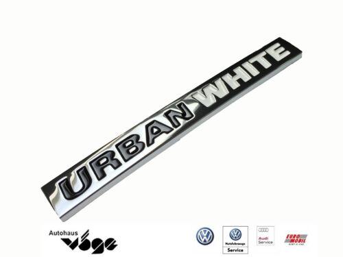 """Original VW Schriftzug /""""URBAN WHITE/"""" selbstklebend"""