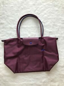 Auth Longchamp Le Pliage Club Collection Horse Embroidery Large ...