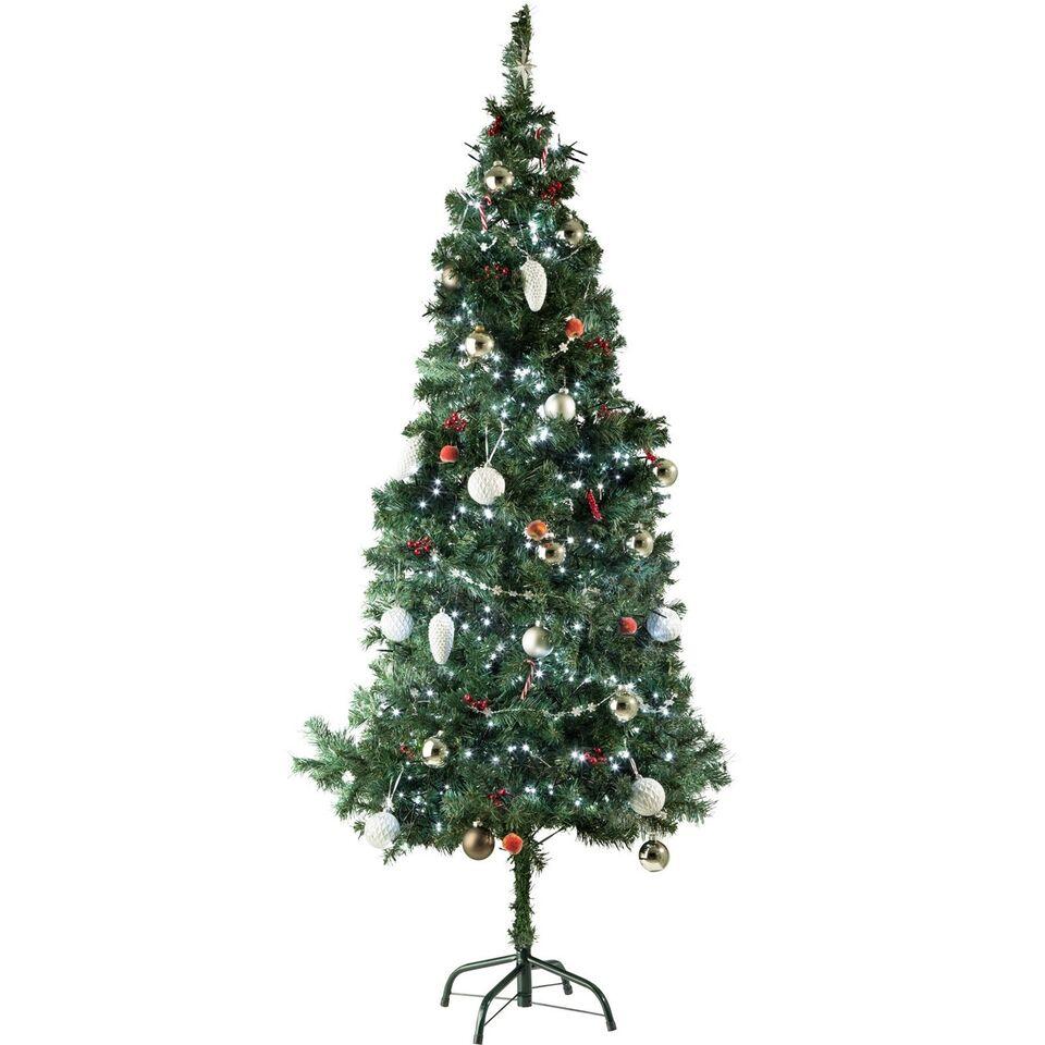 Kunstigt juletræ 180 cm 533 grene, grønt