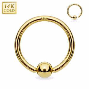Mutig 14k Massivem Gold Unverlierbar Fest Perle Ringe Lippe Ohr Nase Knorpel Hoher Standard In QualitäT Und Hygiene Piercingschmuck
