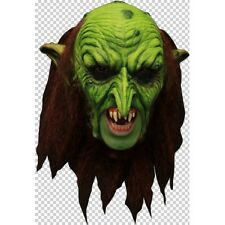 Goblin Warlock Deluxe Chin Strap Latex Mask Fancy Dress Halloween Adult