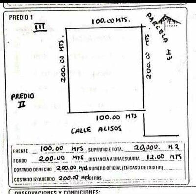 MAC GREGOR REMATA TERRENO EN NORIAS DE OJOCALIENTE SE VENDEN DOS HECTAREAS 600 POR METRO A TRATAR