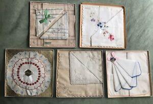 Vintage wedding handkerchiefs in original box