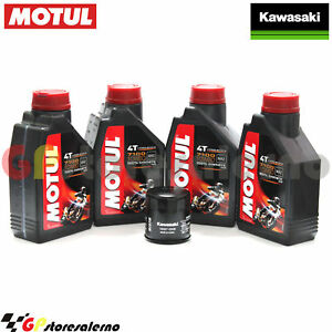 Olio + Filtro Originale Motul 7100 10w60 4l Kawasaki 1000 Zx 10r Ninja Abs 2013 Clair Et Distinctif