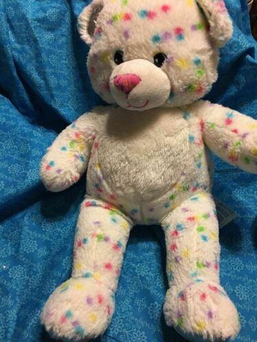 "Build a Bear Workshop CONFETTI CUPCAKE BEAR 16/"" Plush Stuffed Toy BABW"