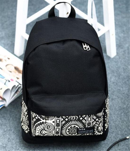 Fashion Unisex Casual Backpack School Shoulder Bag Rucksack Travel Bags Handbags