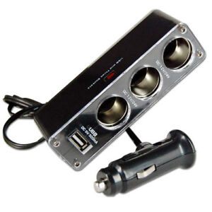 3-WAY-MULTI-SOCKET-CAR-CIGARETTE-LIGHTER-SPLITTER-USB-PLUG-CHARGER-DC-12V-C6Q7