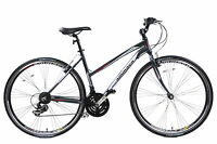 Ammaco Cs250 Ladies Alloy Sports Hybrid Urban Trekking Bike 16 Frame Grey