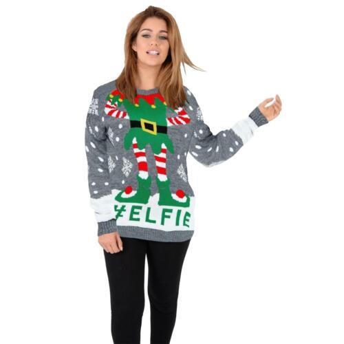 Men Women Santa Xmas Christmas Novelty Fairisle Retro Jumper Sweater 2019 Design