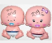 BABY SHAPED  FOIL BALLOON GIRL OR BOY HELIUM AIR BIRTH SHOWER CHRISTENING UK