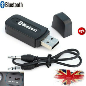 Wireless-Bluetooth-3-5mm-Audio-USB-Receiver-Adapter-Music-Auto-AUX-A2DP-Car-UK