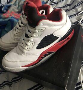 the best attitude 50b49 4c1a2 Details about Nike Air Jordan Fire Red 5 Low Air Jordan 1 2 3 4 5 6 7 8 9  10 11 12 13 14