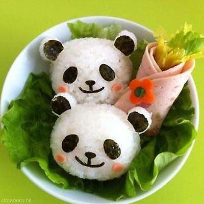 Enduring Best Bento Rice Ball Onigiri Mold Mould + Nori Punch Sushi Panda OJ