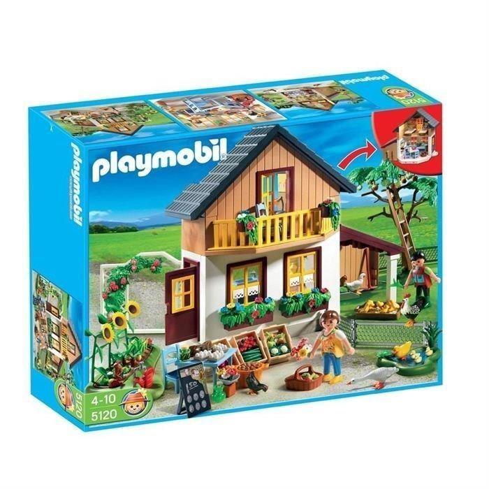 Playmobil 5120 - Maison des fermiers et marché - Ferme   NEUF