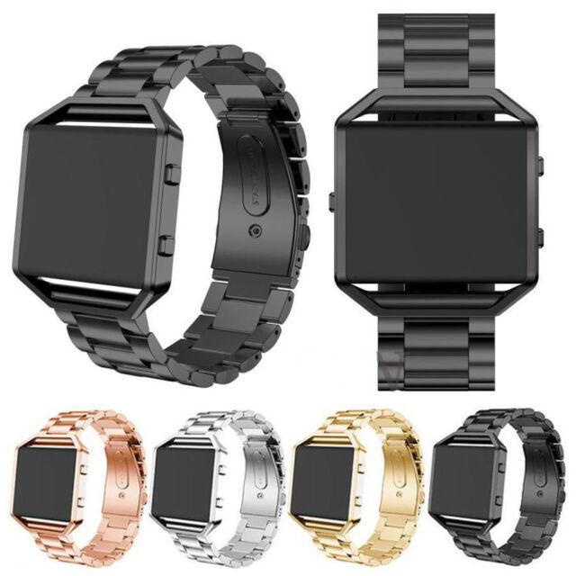 Fitbit Blaze Genuine Stainless Steel Wrist Strap Band Metal Frame US seller S//L
