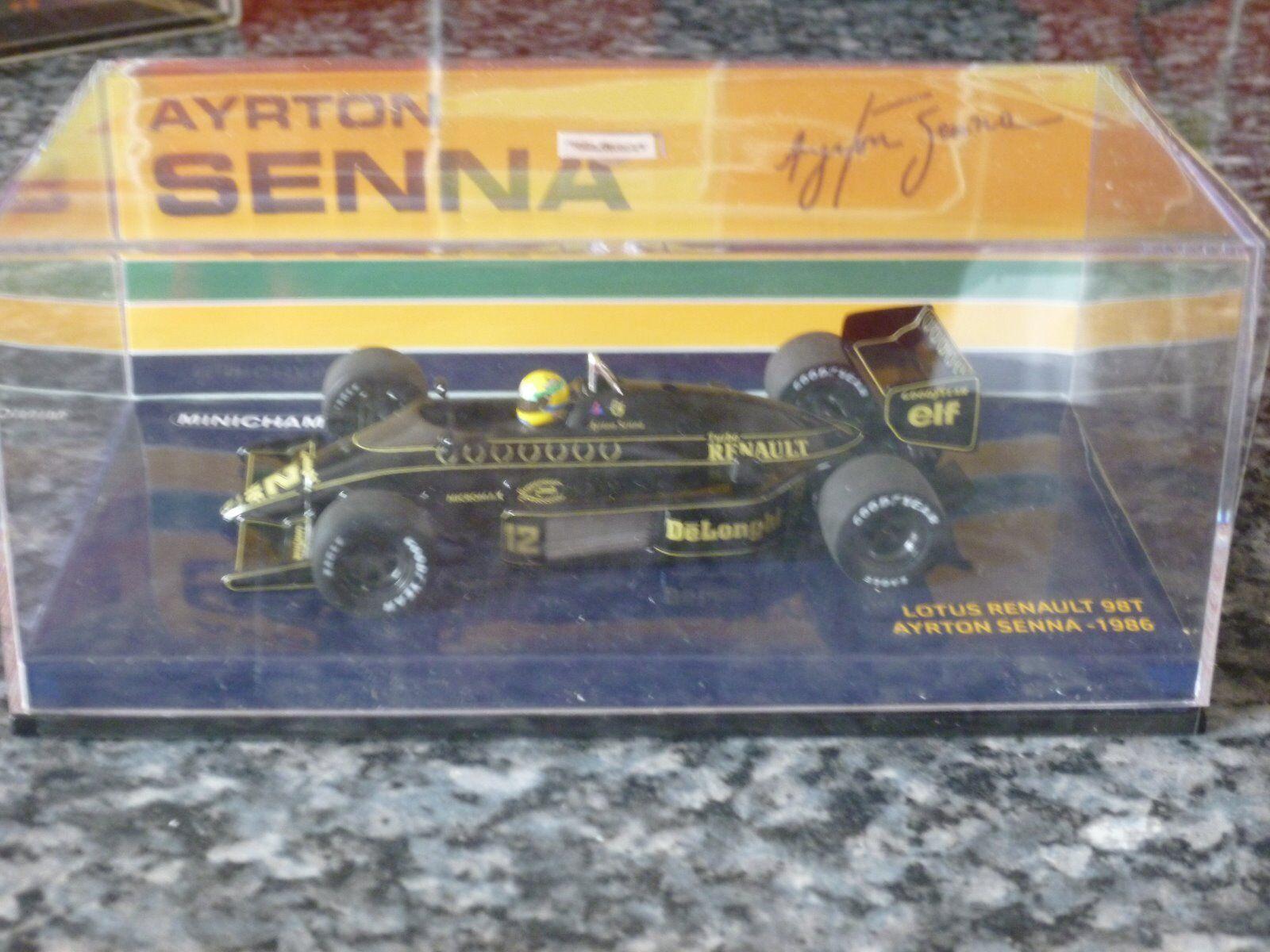 MINICHAMPS Lotus Renault 98T 1986 Ayrton Senna 1 43