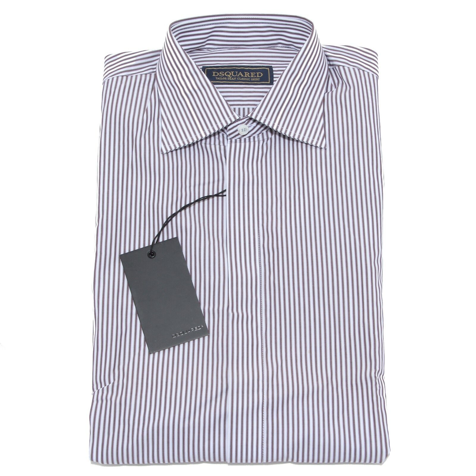 9626M camicia uomo DSQUARED shirt Uomo gessata bianco Marroneee